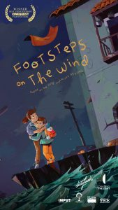 A poster for the documentary of Footsteps on the wind